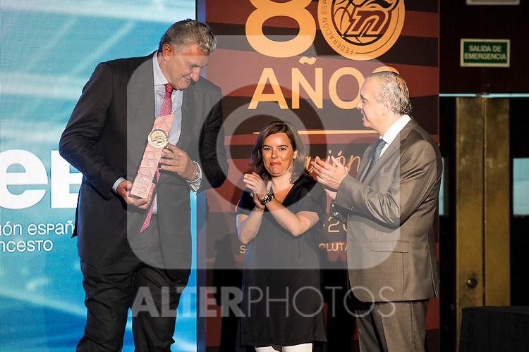 Fernando Romay during the 80th Aniversary of the National Basketball Team at Melia Castilla Hotel, Spain, September 01, 2015. <br /> (ALTERPHOTOS/BorjaB.Hojas)