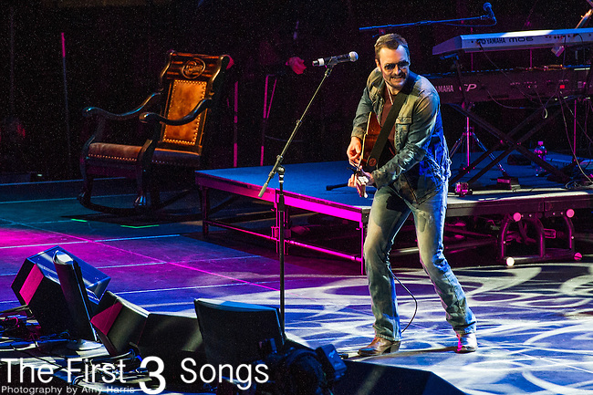 "Eric Church performs at the George Jones Tribute Concert ""Playin' Possum: The Final No Show"" at Bridgestone Arena in Nashville, TN"