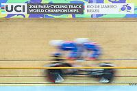 Picture by Alex Whitehead/SWpix.com - 21/03/2018 - Cycling - 2018 UCI Para-Cycling Track World Championships - Rio de Janeiro Municipal Velodrome, Barra da Tijuca, Brazil - Great Britain.