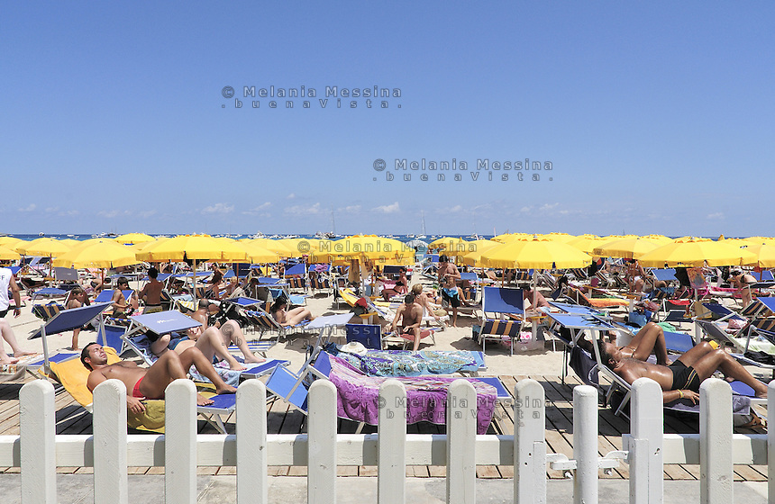 Palermo, Mondello beach during the summer.