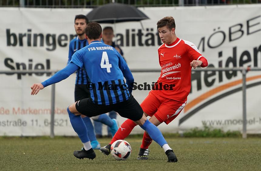Sebastian Krieg (Büttelborn) gegen Sören Heidrich (Riedrode) - Büttelborn 03.10.2019: SKV Büttelborn vs. FSG Riedrode, Gruppenliga Darmstadt
