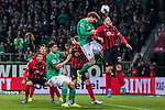 02.11.2019, wohninvest WESERSTADION, Bremen, GER, 1.FBL, Werder Bremen vs SC Freiburg<br /> <br /> DFL REGULATIONS PROHIBIT ANY USE OF PHOTOGRAPHS AS IMAGE SEQUENCES AND/OR QUASI-VIDEO.<br /> <br /> im Bild / picture shows<br /> Mike Frantz (SC Freiburg #8), <br /> Milos Veljkovic (Werder Bremen #13), <br /> Nils Petersen (SC Freiburg #18), <br /> Joshua Sargent (Werder Bremen #19) im Duell / im Zweikampf mit Christian Günter / Guenter (SC Freiburg #30), <br /> <br /> Foto © nordphoto / Ewert