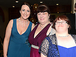 Deirdre Flood, Mary and Suzy Duffy pictured at the Special Olympics 10th Anniversary Gala Ball in the Boyne Valley hotel. Photo:Colin Bell/pressphotos.ie