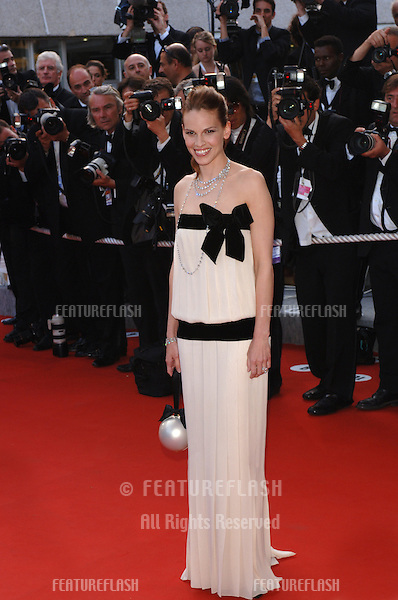 Actress HILARY SWANK at the Awards Ceremony & screening of Chromophobia at the 58th Annual Film Festival de Cannes..May 21, 2005 Cannes, France..© 2005 Paul Smith / Featureflash