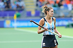 The Hague, Netherlands, June 14: Luciana Aymar #8 of Argentina reacts to a play during the field hockey bronze medal match (Women) between USA and Argentina on June 14, 2014 during the World Cup 2014 at Kyocera Stadium in The Hague, Netherlands. Final score 2-1 (2-1)  (Photo by Dirk Markgraf / www.265-images.com) *** Local caption ***