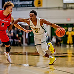8 January 2020: University of Vermont Catamount Guard Stef Smith, a Junior from Ajax, Ontario, in first half action against the Stony Brook University Seawolves at Patrick Gymnasium in Burlington, Vermont. The Seawolves defeated the Catamounts 81-77 in a closely fought game. Mandatory Credit: Ed Wolfstein Photo *** RAW (NEF) Image File Available ***