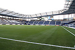 08 June 2011: A view from the northwest corner of the field. A tour of the interior of LIVESTRONG Sporting Park one day before Sporting Kansas City played the Chicago Fire in the inaugural game at LIVESTRONG Sporting Park in Kansas City, Kansas in a 2011 regular season Major League Soccer game.
