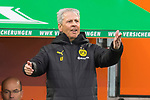 18.01.2020, WWK Arena, Muenchen, GER, 1.FBL,  FC Augsburg vs. Borussia Dortmund, DFL regulations prohibit any use of photographs as image sequences and/or quasi-video, im Bild Lucien Favre (Trainer BVB) <br /> <br /> Foto © nordphoto / Straubmeier