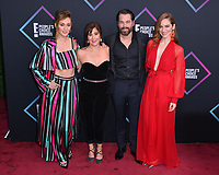 LOS ANGELES, CA. November 11, 2018: Kat Barrell, Emily Andras, Tim Rozon &amp; Melanie Scrofano at the E! People's Choice Awards 2018 at Barker Hangar, Santa Monica Airport.<br /> Picture: Paul Smith/Featureflash