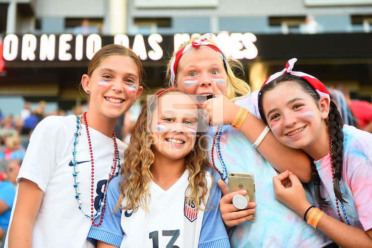 Carson, CA - Thursday August 03, 2017: Fans prior to a 2017 Tournament of Nations match between the women's national teams of the United States (USA) and Japan (JPN) at the StubHub Center.