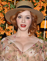 PACIFIC PALISADES, CA - OCTOBER 06: Christina Hendricks arrives at the 9th Annual Veuve Clicquot Polo Classic Los Angeles at Will Rogers State Historic Park on October 6, 2018 in Pacific Palisades, California.<br /> CAP/ROT/TM<br /> &copy;TM/ROT/Capital Pictures