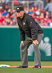 7 April 2016: MLB Umpire Ted Barrett works Second Base during the Washington Nationals' Home Opening Game against the Miami Marlins at Nationals Park in Washington, DC. The Marlins defeated the Nationals 6-4 in their first meeting of the 2016 MLB season. Mandatory Credit: Ed Wolfstein Photo *** RAW (NEF) Image File Available ***