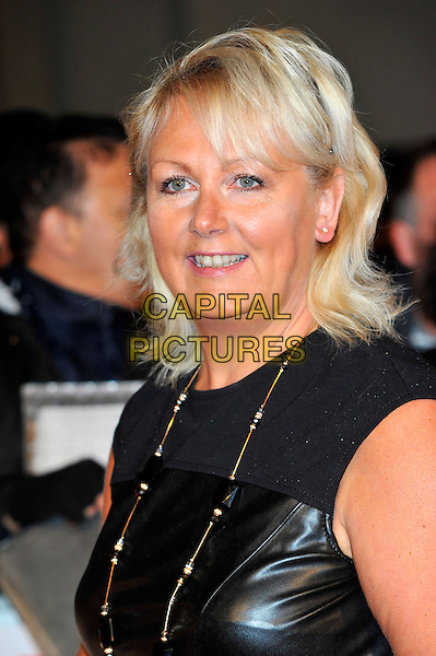 Sue Cleaver.The Pride of Britain Awards held at the Grosvenor House hotel in London, England..29th October 2012.headshot portrait black sleeveless leather gold necklace .CAP/CJ.©Chris Joseph/Capital Pictures.