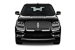Car photography straight front view of a 2019 Lincoln Navigator Select L Extended 4x2 5 Door SUV