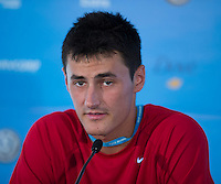 BERNARD TOMIC..Tennis - Apia Sydney International -  Sydney 2013 -  Olympic Park - Sydney - NSW - Australia. Sunday 6th January  2013. .© AMN Images, 30, Cleveland Street, London, W1T 4JD.Tel - +44 20 7907 6387.mfrey@advantagemedianet.com.www.amnimages.photoshelter.com.www.advantagemedianet.com.www.tennishead.net