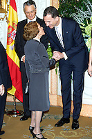 LISBOA, PORTUGAL, 31 DE MAIO 2012 - VISITA FAMILIA REAL ESPANHOLA A LISBOA - O principe Felipe e a princesa Letizia durante jantar oferecido pelo presidente da Republica de Portugal Anival Cavaco Silva e a primeira dama Maria Cavaco Silva no Palacio Beluz em Lisboa capital de Portugal nesta quinta-feira 31. A família real espanhola esta em visita a Portugal por tres dias, hoje sendo o segundo.  (FOTO: BILLY CHAPPEL / ALFAQUI / BRAZIL PHOTO PRESS).
