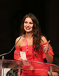 Martyna Majok on stage at the The Lilly Awards  at Playwrights Horizons on May 22, 2017 in New York City.