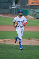 Daniel Robinson (50) of the Ogden Raptors during the game against the Idaho Falls Chukars at Lindquist Field on July 2, 2018 in Ogden, Utah. The Raptors defeated the Chukars 11-7. (Stephen Smith/Four Seam Images)