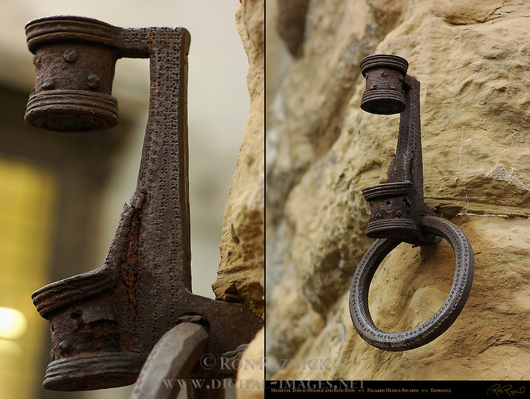 Medieval Torch-Holder and Rein-Ring Composite Image Palazzo Medici-Ricardi Florence