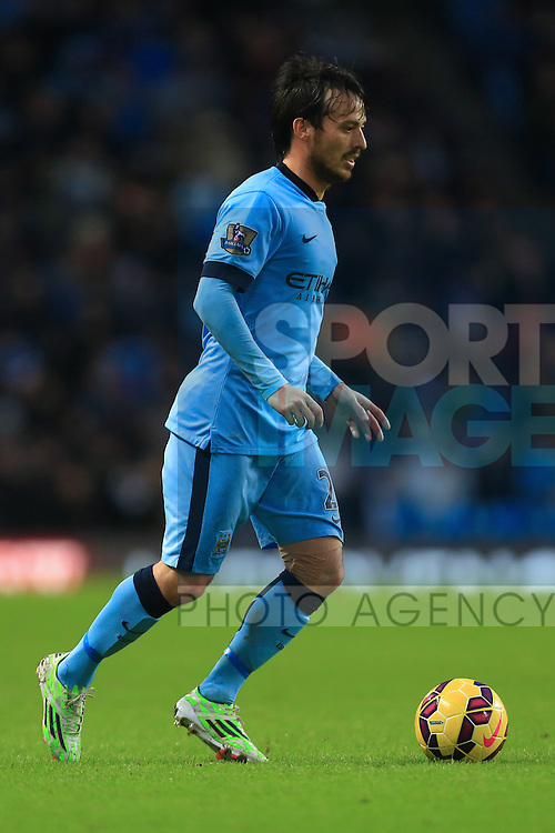 David Silva of Manchester City - Manchester City vs. Sunderland - Barclay's Premier League - Etihad Stadium - Manchester - 28/12/2014 Pic Philip Oldham/Sportimage