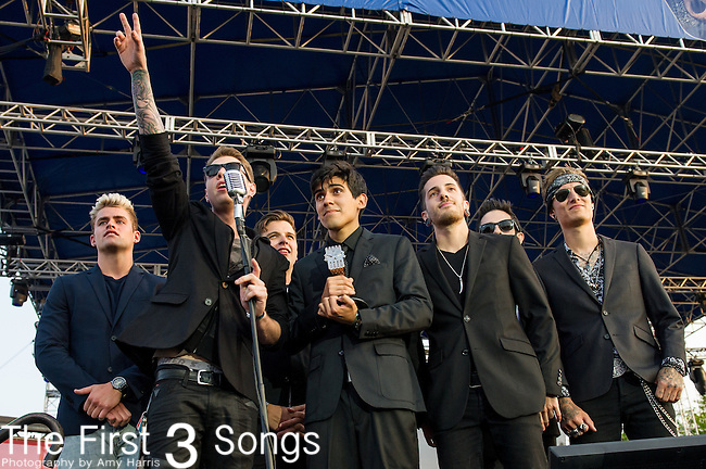 Crown the Empire at the 2014 AP Music Awards at the Rock And Roll Hall Of Fame and Museum at North Coast Harbor in Cleveland, Ohio.