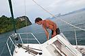 Ignazio Mannu è nato a Sassari nel 1961.  Fa il marinaio su barche da diporto e vive prevalentemente in mare, occupandosi di trasferimenti, restuari e della custodia e mantenimento efficiente di una barca storica, il Wanderer V, appartenuta ad una nota coppia di navigatori britannici, Eric e Susan Hiscock. Nella foto è ritratto mentre si prepara a salpare dall'isola di Koh Hong, in Tailandia, per fare ritorno verso l'isola maggiore di Pukhet.