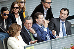Popular Party leaders Alberto Ruiz-Gallardon, Madrid City's Mayor, and Mariano Rajoy during Tennis Madrid Open match, May 14,2010..(ALFAQUI/Cesar Cebolla)