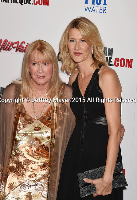 LOS ANGELES, CA - OCTOBER 30: Actresses Diane Ladd (L) and daughter Laura Dern arrive at the 29th American Cinematheque Award honoring Reese Witherspoon at the Hyatt Regency Century Plaza on October 30, 2015 in Los Angeles, California.