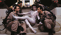 Ghostbusters (1984) <br /> Behind the scenes photo of Bill Murray, Ernie Hudson, Dan Aykroyd, Harold Ramis &amp; Slavitza Jovan<br /> *Filmstill - Editorial Use Only*<br /> CAP/KFS<br /> Image supplied by Capital Pictures