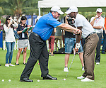 Coaching Clinic with Ian Robertson and Clarence Seedorf during the Mission Hill Celebrity Pro-Am on 23 October 2014, in Haikou, China. Photo by Xaume Olleros / Power Sport Images