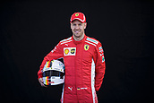 22nd March 2018, Melbourne Grand Prix Circuit, Melbourne, Australia; Melbourne Formula One Grand Prix, Arrivals and Press Conference; The number 5 Scuderia Ferrari driver Sebastian Vettel