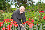 Fr Padraig Breheny attending the plants in the Friary Garden which has been opened to the Public