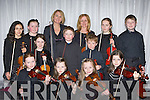 Violinists at the Kerry School of Music musician of the year finals in the Malton Hotel Killarney on Sunday evening front row l-r Orlaith O'Sullivan Killorglin, Cliona Lynch Killarney, Katie Ross Tralee, Kate Lynch Killarney. Middle row: Jasmine Ryle Tralee, Meabh Coleman Firies, Nathan Hynes Tralee, Cieran O'Sullivan Killorglin. Back row: Laura Hynes Tralee, Lucy Crowe Tralee, Geraldine Courtney Killarney, Meadhbh O'Sullivan Killorglin and Ben Flavin..