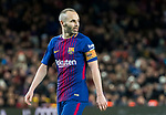 Andres Iniesta Lujan of FC Barcelona looks on during the La Liga 2017-18 match between FC Barcelona and Deportivo Alaves at Camp Nou on 28 January 2018 in Barcelona, Spain. Photo by Vicens Gimenez / Power Sport Images