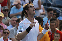 Andy Murray from England celebrates after wins  against  during the 2012 U.S. Open in New York, United States. 28/08/2012. Photo by Kena Betancur/VIEWpress.