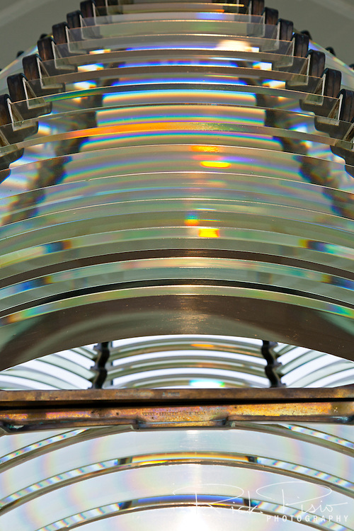 Glass segments of Cape Blanco Lighthouse's second order Fresnel lens. The Cape Blanco Lighthouse is located near Port Orford along Oregon's southern coast.