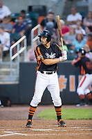 Ryan Ripken (58) of the Aberdeen IronBirds at bat against the Hudson Valley Renegades at Leidos Field at Ripken Stadium on July 27, 2017 in Aberdeen, Maryland.  The IronBirds defeated the Renegades 3-0 in game two of a double-header.  (Brian Westerholt/Four Seam Images)
