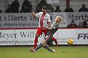 Filipe Morais of Stevenage is tackled by Ben Pringle of Rotherham<br />  - Stevenage v Rotherham United - Sky Bet League 1 - Lamex Stadium, Stevenage - 16th November, 2013<br />  © Kevin Coleman 2013