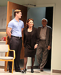 Gregory Wooddell, Linda Lavin, Dick Latessa.during the Opening Night Performance Curtain Call for Nicky Silver's 'The Lyons' at the Vineyard Theatre in New York City.