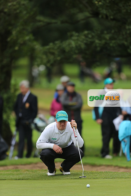 Paul Coey during the Ulster Mixed Foursomes Final, Shandon Park Golf Club, Belfast. 19/08/2016<br /> <br /> Picture Jenny Matthews / Golffile.ie<br /> <br /> All photo usage must carry mandatory copyright credit (© Golffile | Jenny Matthews)