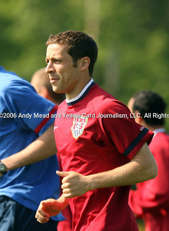Steve Cherundolo on Wednesday, May 17th, 2006 at SAS Soccer Park in Cary, North Carolina. The United States Men's National Soccer Team held a training session as part of their preparations for the upcoming 2006 FIFA World Cup Finals being held in Germany.