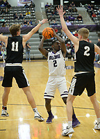Fayetteville's Bentonville's Friday, Jan. 17, 2020, during the first half of play in Bulldog Arena in Fayetteville. Visit nwaonline.com/prepbball/ for a gallery from the games.<br /> (NWA Democrat-Gazette/Andy Shupe)