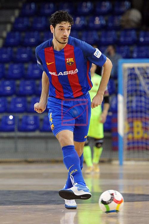 League LNFS 2016/2017 - Game 6.<br /> FC Barcelona Lassa vs Aspil Vidal Ribera Navarra: 7-1.<br /> Marc Tolra.
