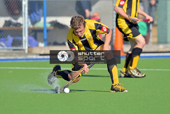 Tasman Men's Club Hockey. Saxton Field, Nelson, New Zealand. Saturday 26 July 2014.Photo: Barry Whitnall/shuttersport.co.nz