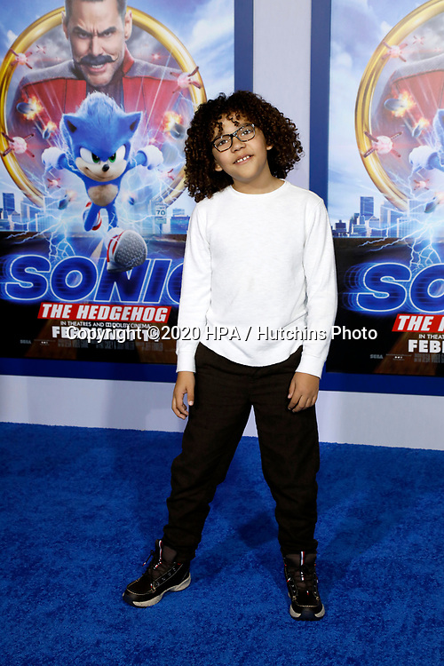 "LOS ANGELES - FEB 12:  Ethan William Childress at the ""Sonic The Hedgehog"" Special Screening at the Village Theater on February 12, 2020 in Westwood, CA"