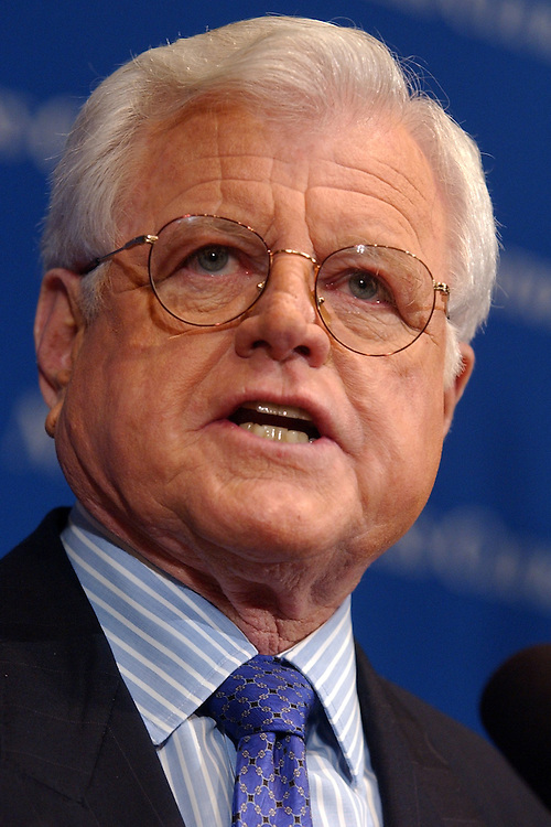 Sen. Ted Kennedy, Mass., delivers a speech at the National Press Club, discussing the future of the Democratic Party and outlined fundamental issues that are weakening America's ability to meet the challenges of the future.