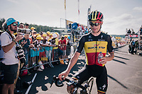 Belgian Champion Yves Lampaert (BEL/Quick Step Floors) after finishing<br /> <br /> Stage 14: Saint-Paul-Trois-Ch&acirc;teaux &gt; Mende (187km)<br /> <br /> 105th Tour de France 2018<br /> &copy;kramon