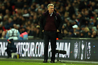 West Ham United manager David Moyes smiles after the opening West Ham goal during Tottenham Hotspur vs West Ham United, Premier League Football at Wembley Stadium on 4th January 2018
