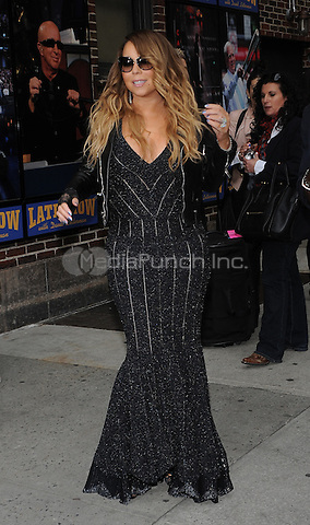 New York,NY-May 7: Mariah Carey Attends The David Letterman Show in New York City on May 7,2014. Credit: John Palmer/MediaPunch