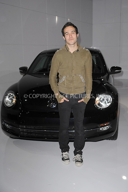 WWW.ACEPIXS.COM . . . . . .April 18, 2011...New York City...Pete Wentz attends the U.S. reveal of the 21st Century Volkswagen Beetle at Warehouse at Pier 36 on April 18, 2011 in New York City....Please byline: KRISTIN CALLAHAN - ACEPIXS.COM.. . . . . . ..Ace Pictures, Inc: ..tel: (212) 243 8787 or (646) 769 0430..e-mail: info@acepixs.com..web: http://www.acepixs.com .